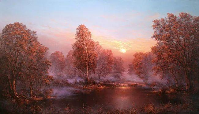 四季景色,俄罗斯画家迈克尔·伊万恩科作品选插图13