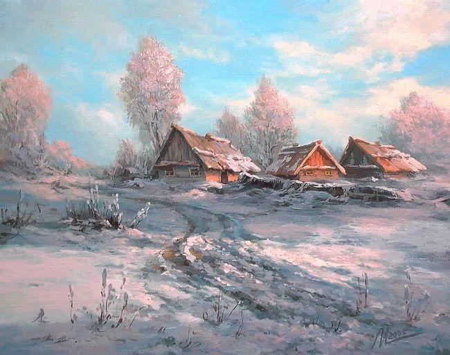 四季景色,俄罗斯画家迈克尔·伊万恩科作品选插图15