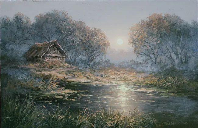 四季景色,俄罗斯画家迈克尔·伊万恩科作品选插图17