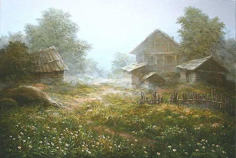 四季景色,俄罗斯画家迈克尔·伊万恩科作品选插图23