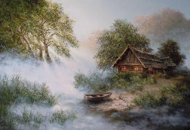 四季景色,俄罗斯画家迈克尔·伊万恩科作品选插图25