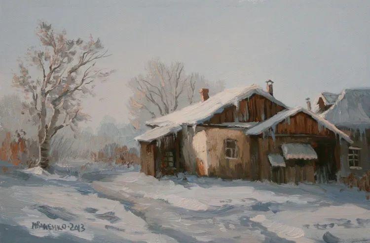 四季景色,俄罗斯画家迈克尔·伊万恩科作品选插图27