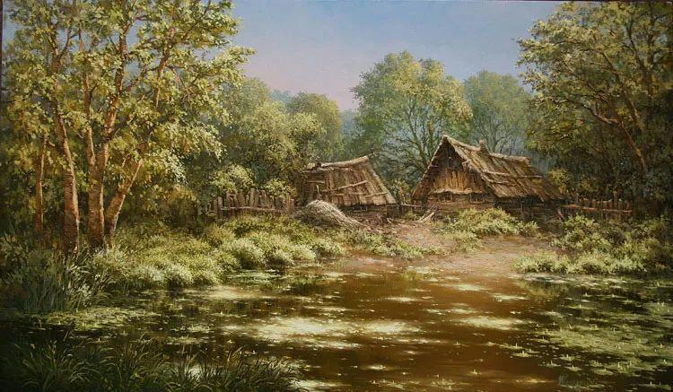四季景色,俄罗斯画家迈克尔·伊万恩科作品选插图29