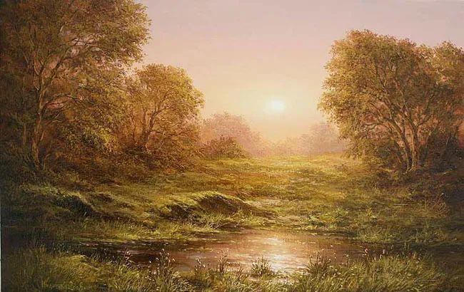 四季景色,俄罗斯画家迈克尔·伊万恩科作品选插图31