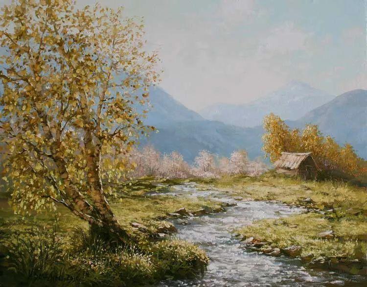 四季景色,俄罗斯画家迈克尔·伊万恩科作品选插图33