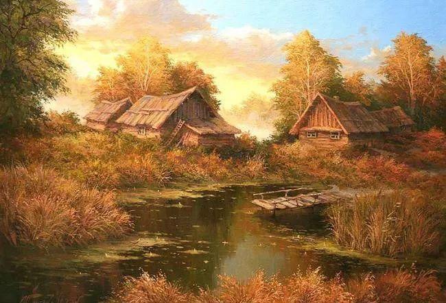 四季景色,俄罗斯画家迈克尔·伊万恩科作品选插图37