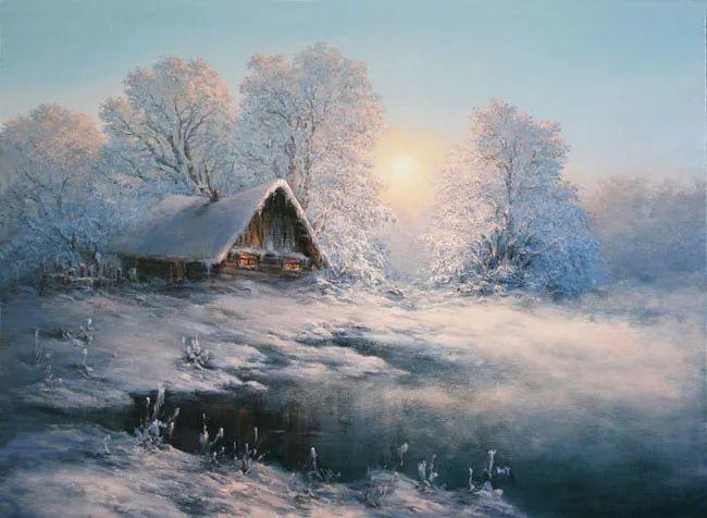 四季景色,俄罗斯画家迈克尔·伊万恩科作品选插图39