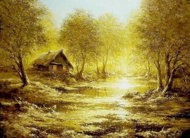 四季景色,俄罗斯画家迈克尔·伊万恩科作品选插图41