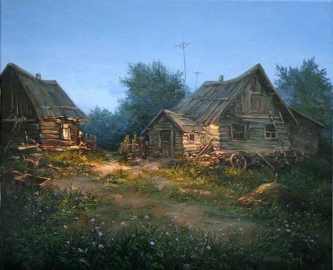 四季景色,俄罗斯画家迈克尔·伊万恩科作品选插图43