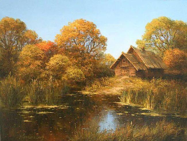 四季景色,俄罗斯画家迈克尔·伊万恩科作品选插图45