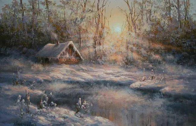 四季景色,俄罗斯画家迈克尔·伊万恩科作品选插图47