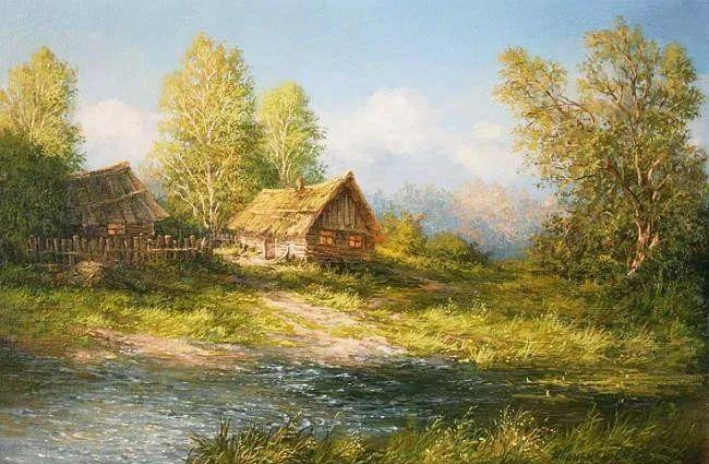 四季景色,俄罗斯画家迈克尔·伊万恩科作品选插图49
