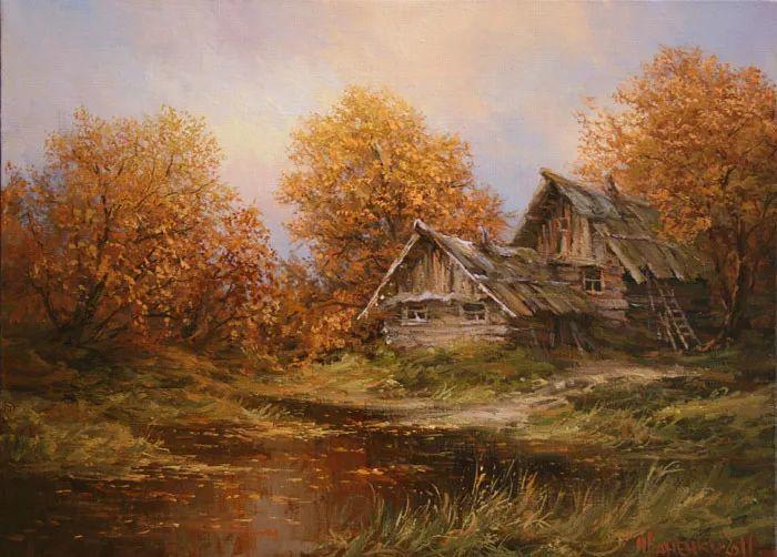 四季景色,俄罗斯画家迈克尔·伊万恩科作品选插图57
