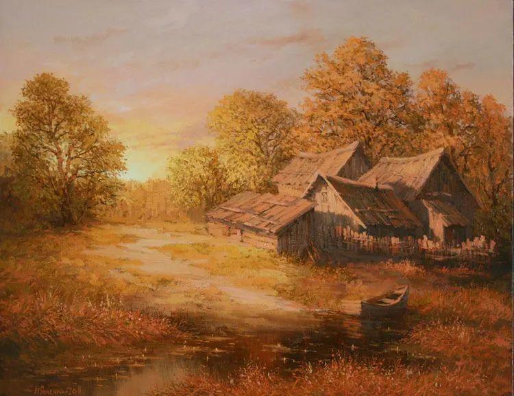 四季景色,俄罗斯画家迈克尔·伊万恩科作品选插图61