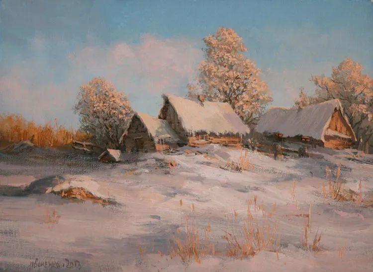 四季景色,俄罗斯画家迈克尔·伊万恩科作品选插图63