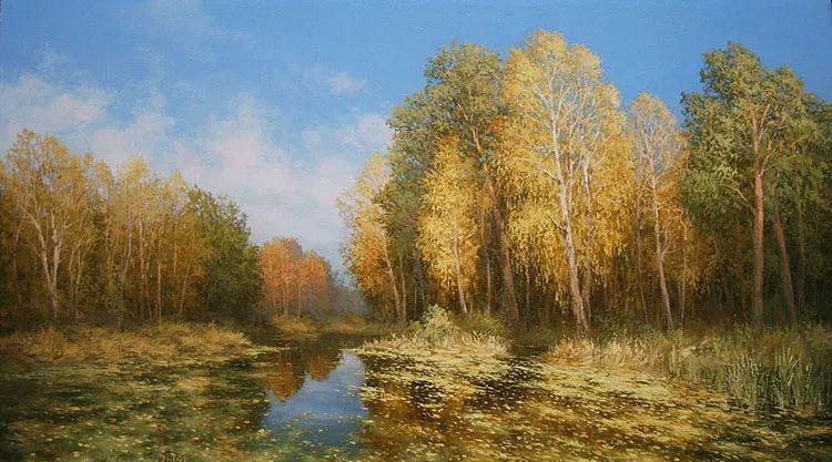 四季景色,俄罗斯画家迈克尔·伊万恩科作品选插图75