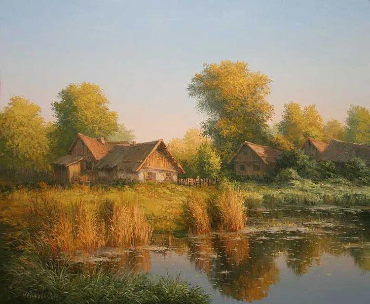 四季景色,俄罗斯画家迈克尔·伊万恩科作品选插图77