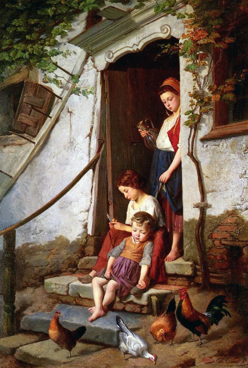 生活场景,比利时画家蒂奥多·杰拉德作品选插图1