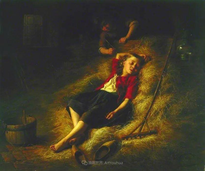 生活场景,比利时画家蒂奥多·杰拉德作品选插图11