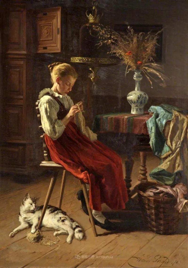 生活场景,比利时画家蒂奥多·杰拉德作品选插图31