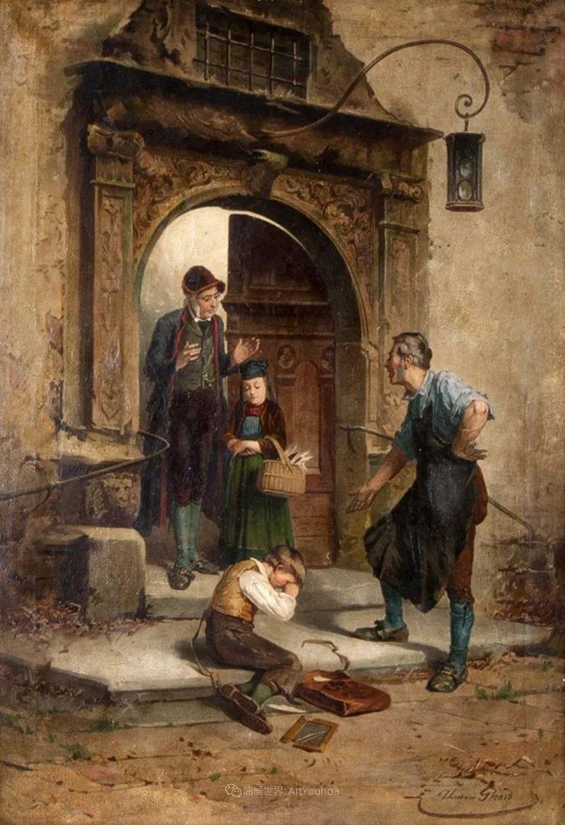 生活场景,比利时画家蒂奥多·杰拉德作品选插图33