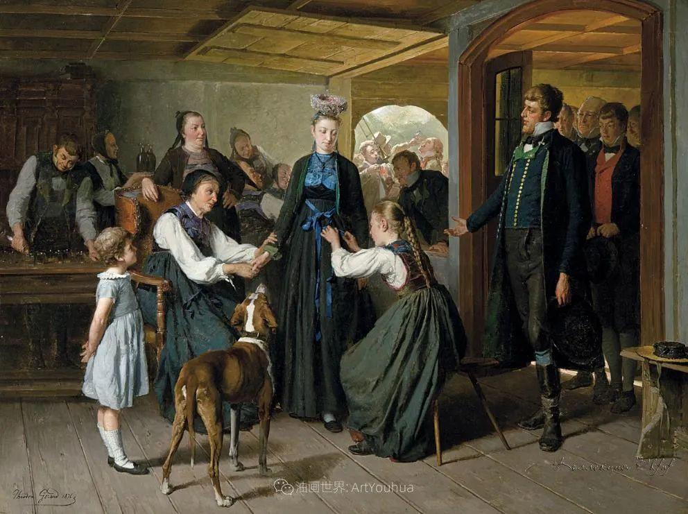 生活场景,比利时画家蒂奥多·杰拉德作品选插图37