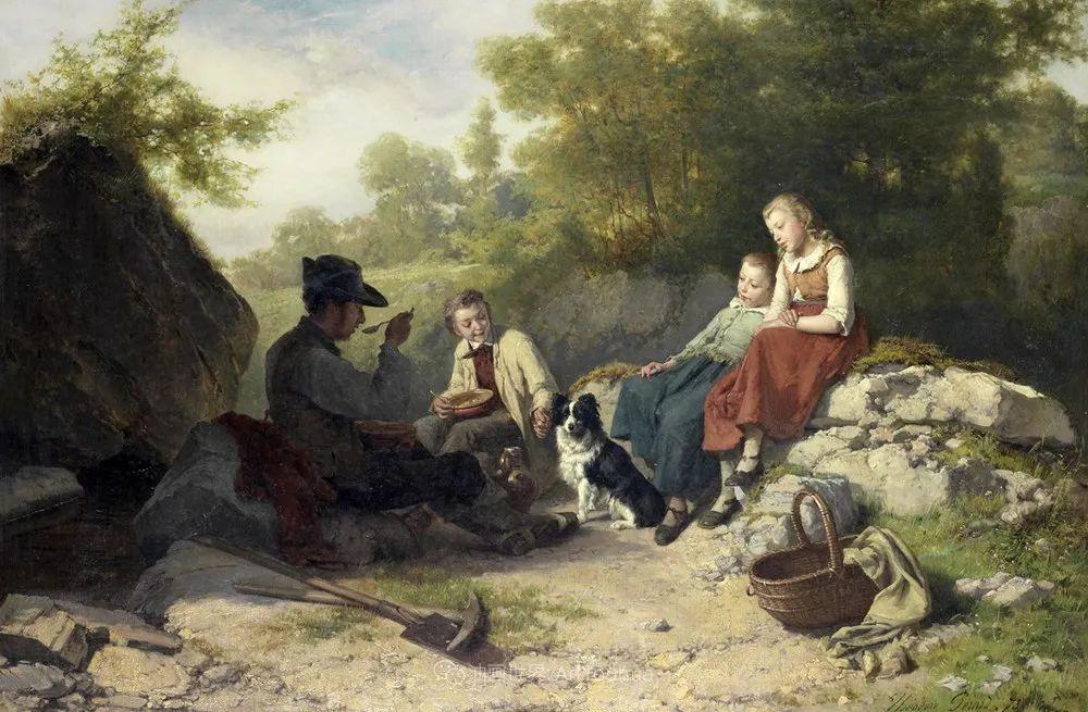 生活场景,比利时画家蒂奥多·杰拉德作品选插图39
