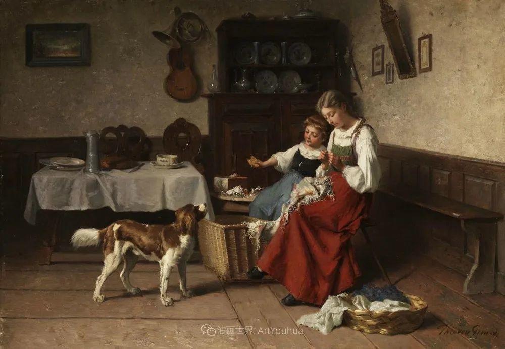 生活场景,比利时画家蒂奥多·杰拉德作品选插图41
