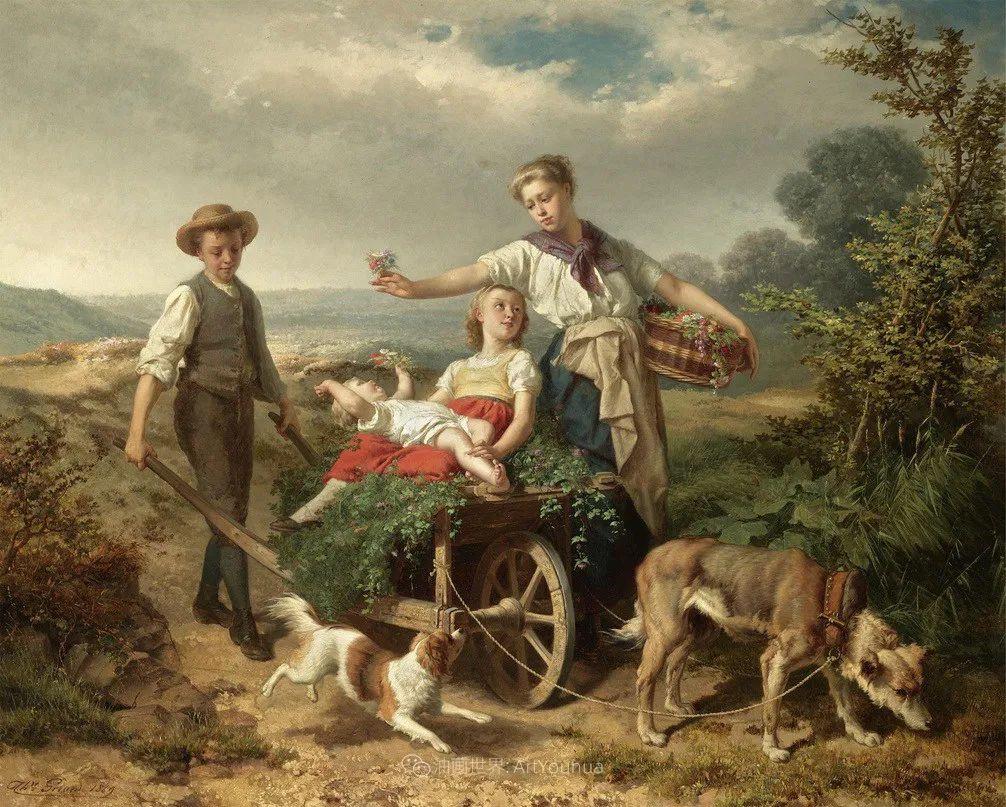 生活场景,比利时画家蒂奥多·杰拉德作品选插图45