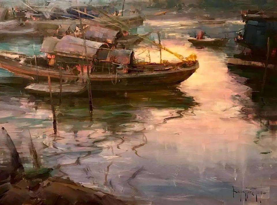 美国写生实力派画家,布莱恩·泰勒船只油画插图1