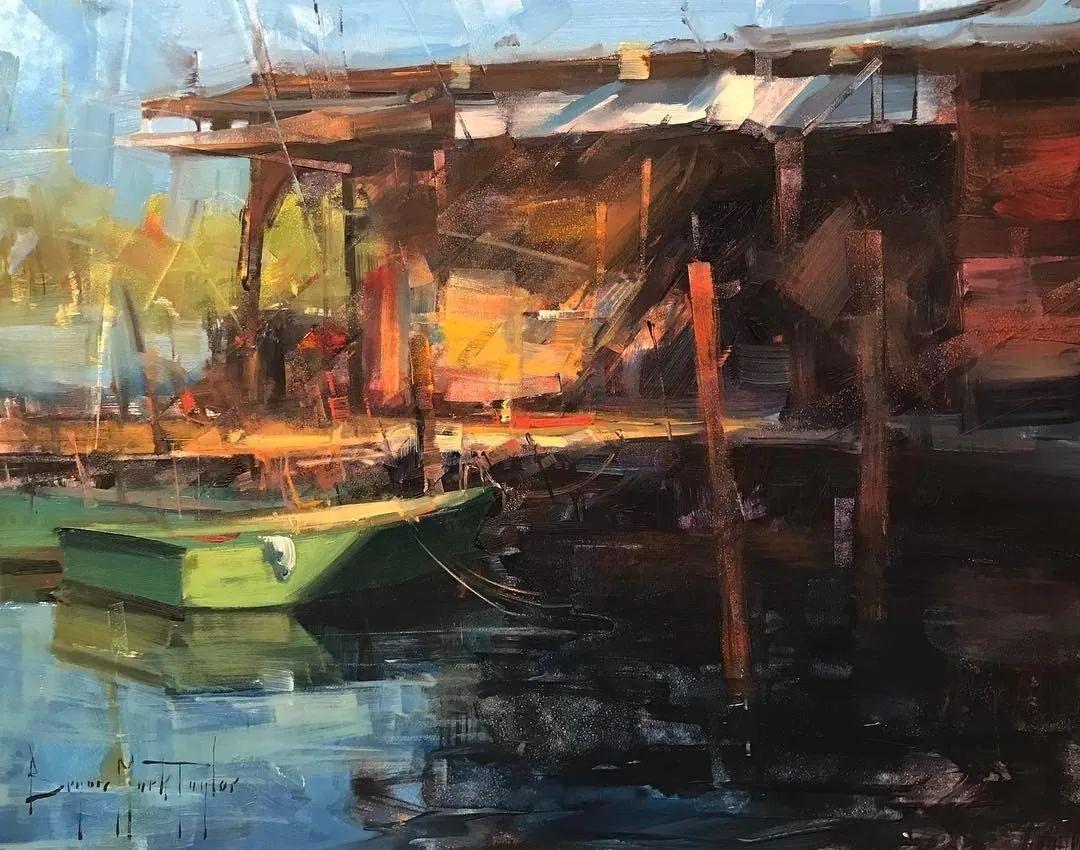 美国写生实力派画家,布莱恩·泰勒船只油画插图3