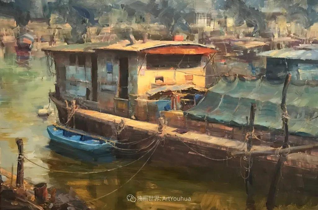 美国写生实力派画家,布莱恩·泰勒船只油画插图4