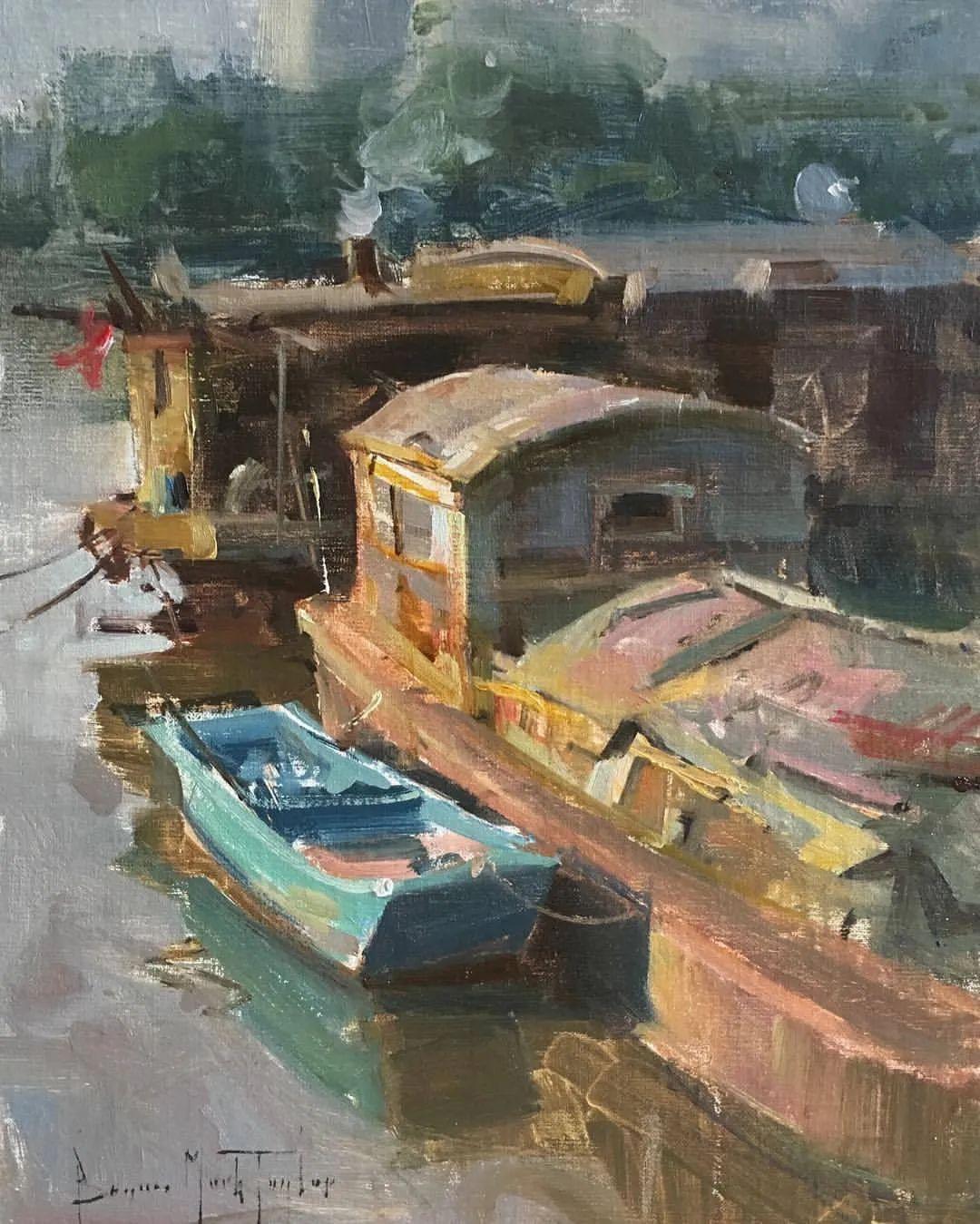 美国写生实力派画家,布莱恩·泰勒船只油画插图5