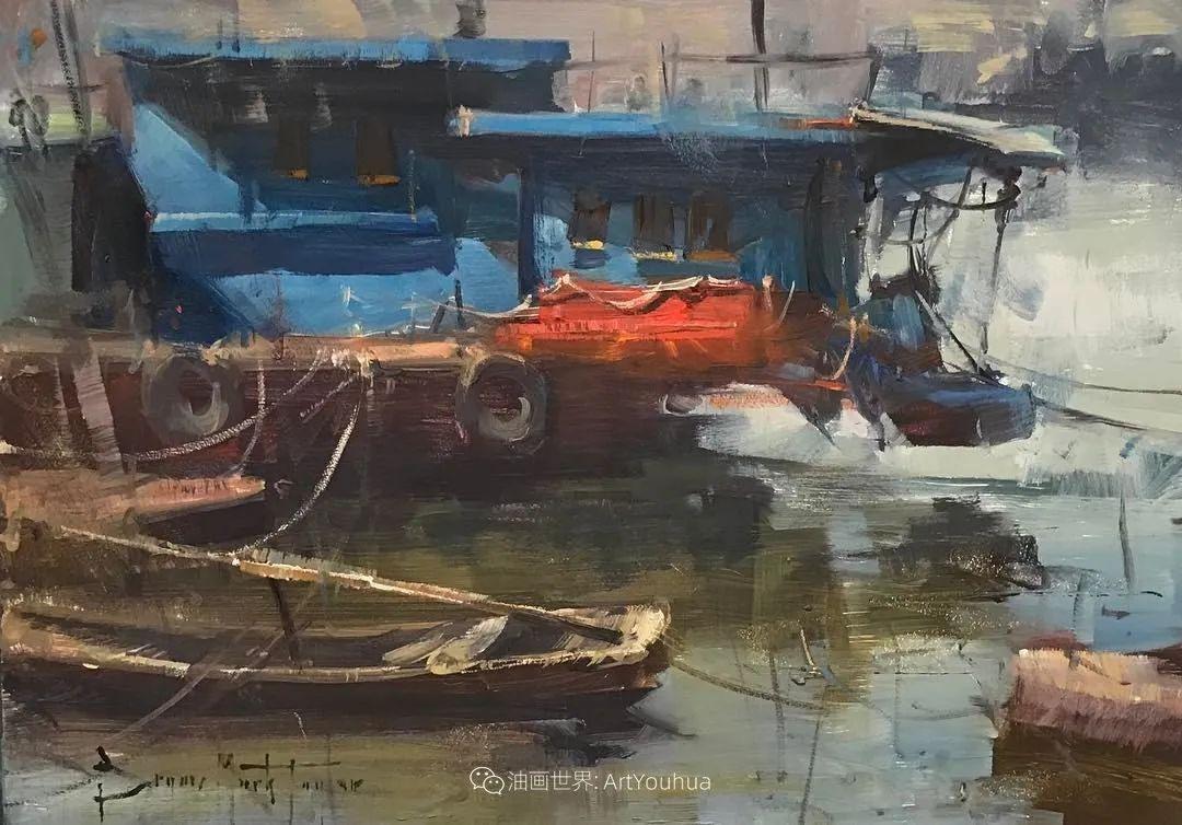 美国写生实力派画家,布莱恩·泰勒船只油画插图7