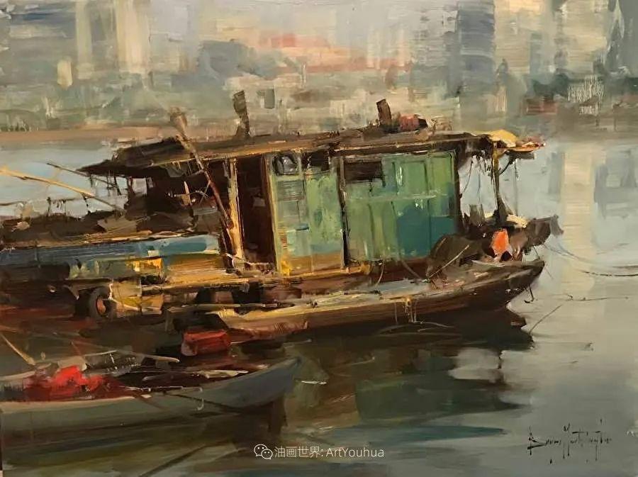 美国写生实力派画家,布莱恩·泰勒船只油画插图9