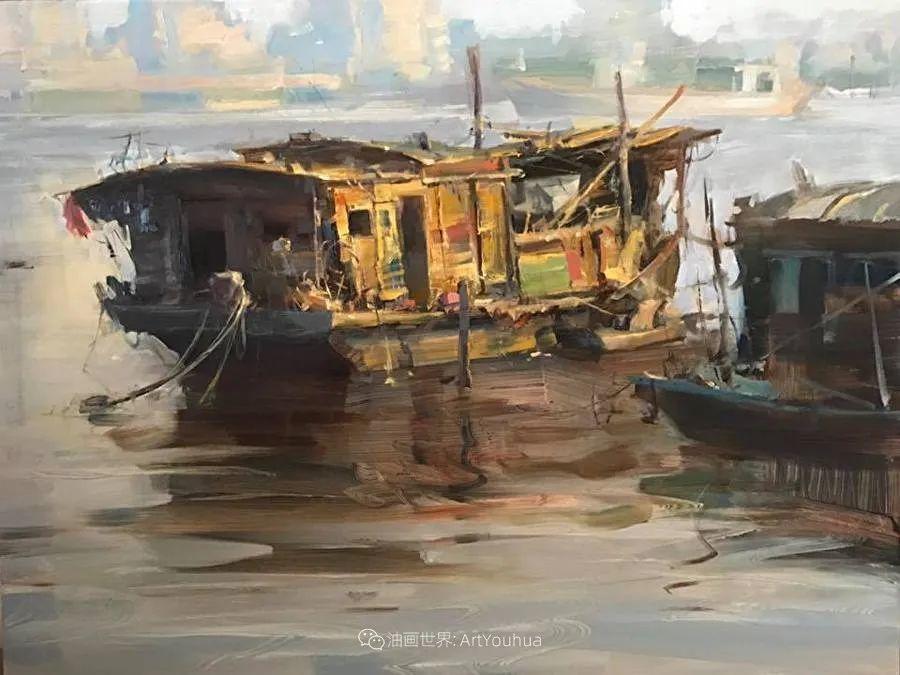 美国写生实力派画家,布莱恩·泰勒船只油画插图10