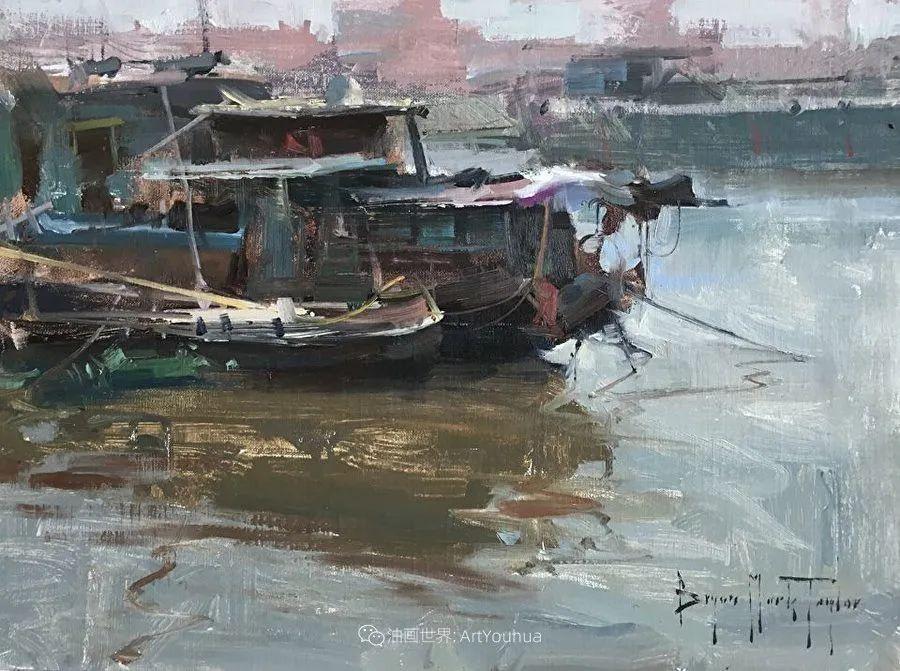 美国写生实力派画家,布莱恩·泰勒船只油画插图11