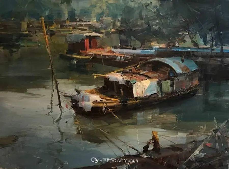 美国写生实力派画家,布莱恩·泰勒船只油画插图12