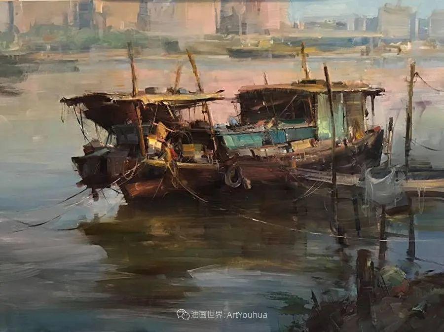 美国写生实力派画家,布莱恩·泰勒船只油画插图13