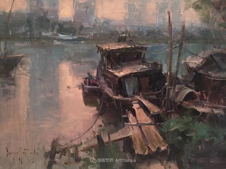 美国写生实力派画家,布莱恩·泰勒船只油画插图14