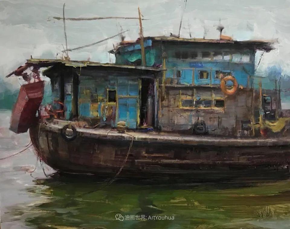 美国写生实力派画家,布莱恩·泰勒船只油画插图15