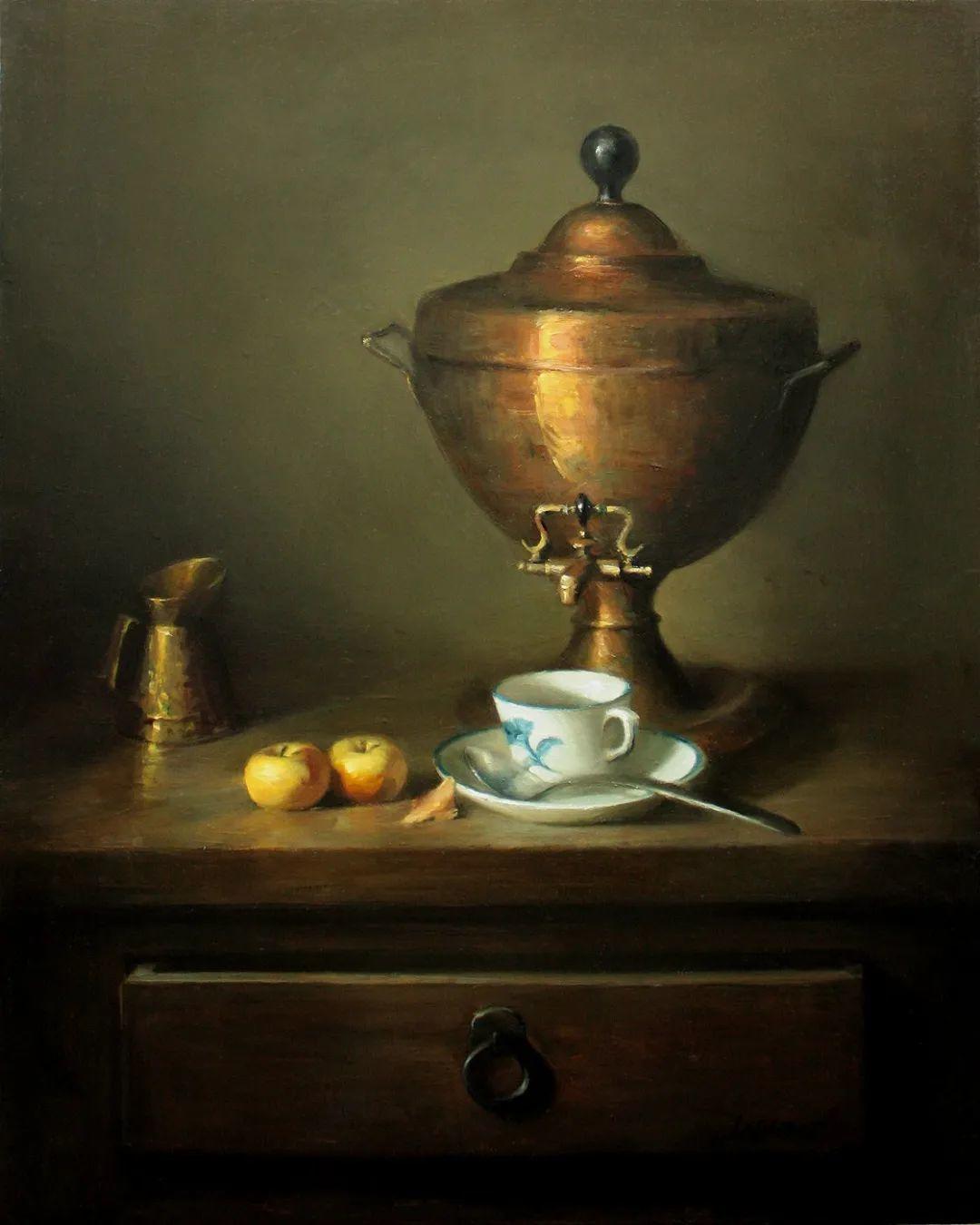 水果与静物,美国女画家莉亚·洛佩兹画选插图1