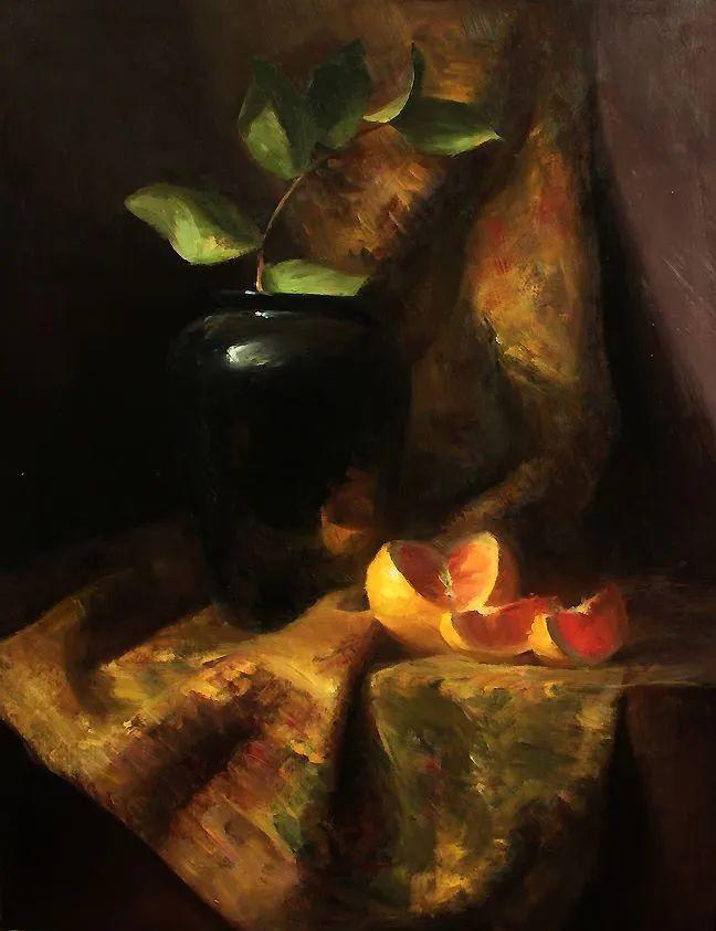 水果与静物,美国女画家莉亚·洛佩兹画选插图5