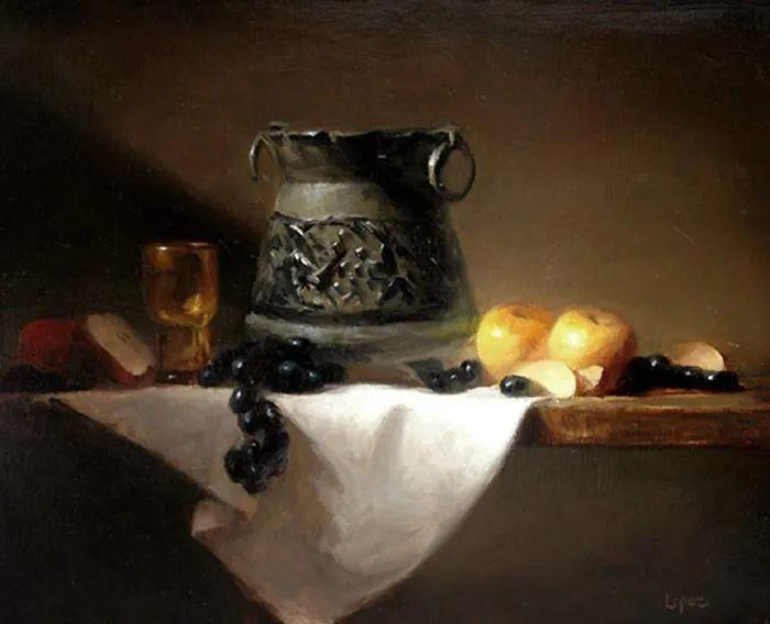 水果与静物,美国女画家莉亚·洛佩兹画选插图7