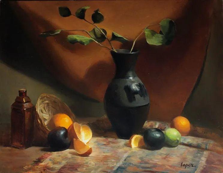 水果与静物,美国女画家莉亚·洛佩兹画选插图9