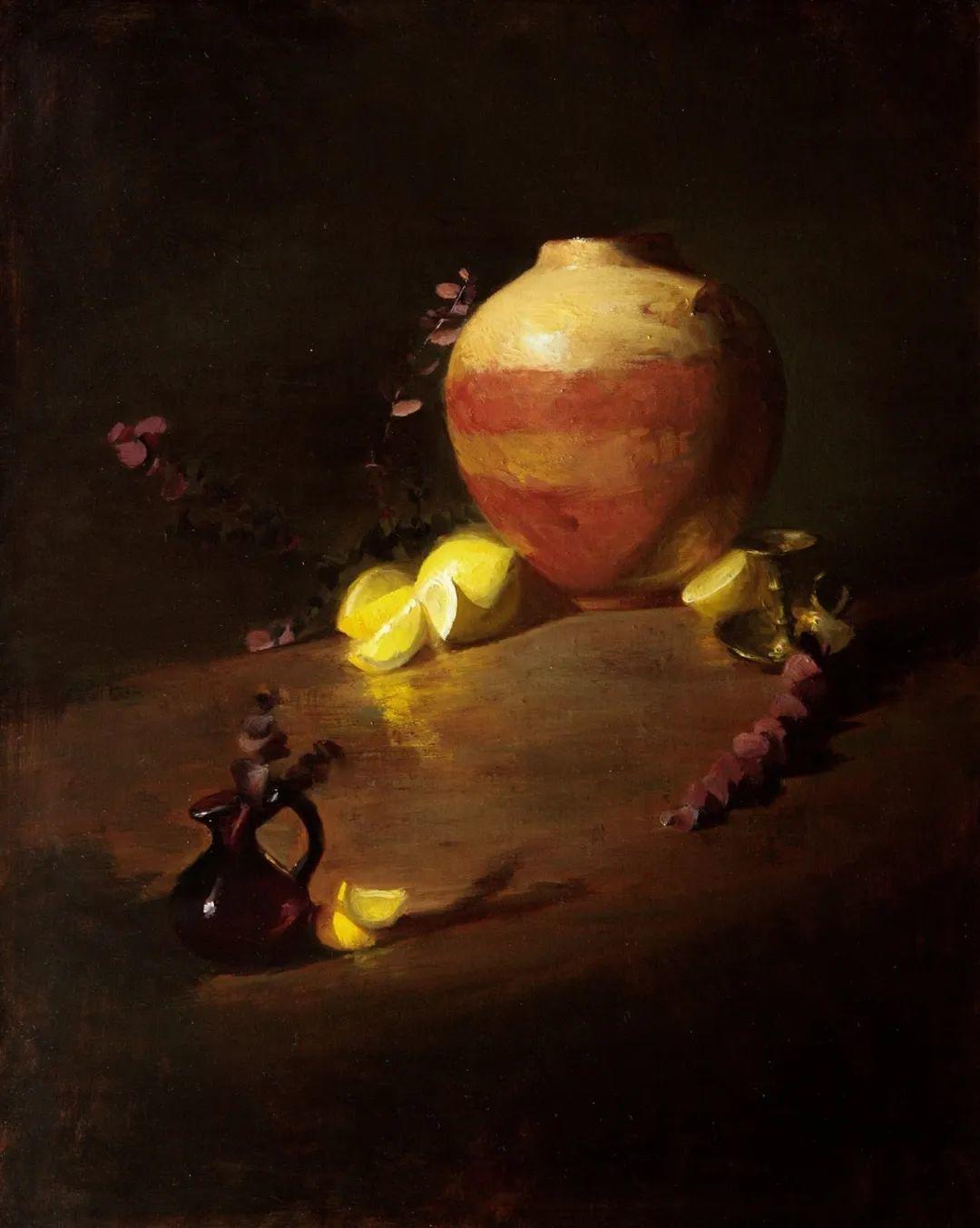 水果与静物,美国女画家莉亚·洛佩兹画选插图11