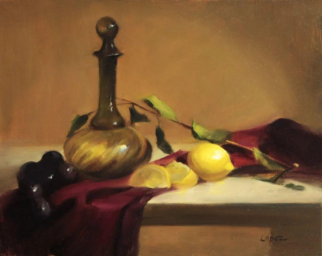 水果与静物,美国女画家莉亚·洛佩兹画选插图13