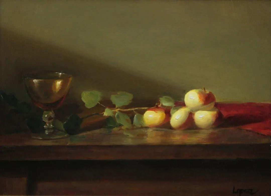 水果与静物,美国女画家莉亚·洛佩兹画选插图17