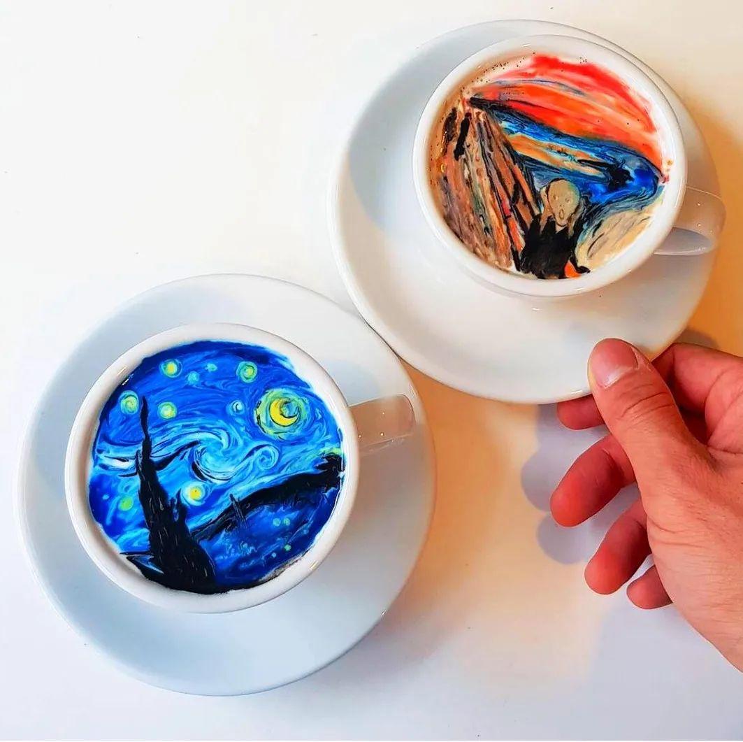 咖啡上的名画,你还舍得喝?插图1