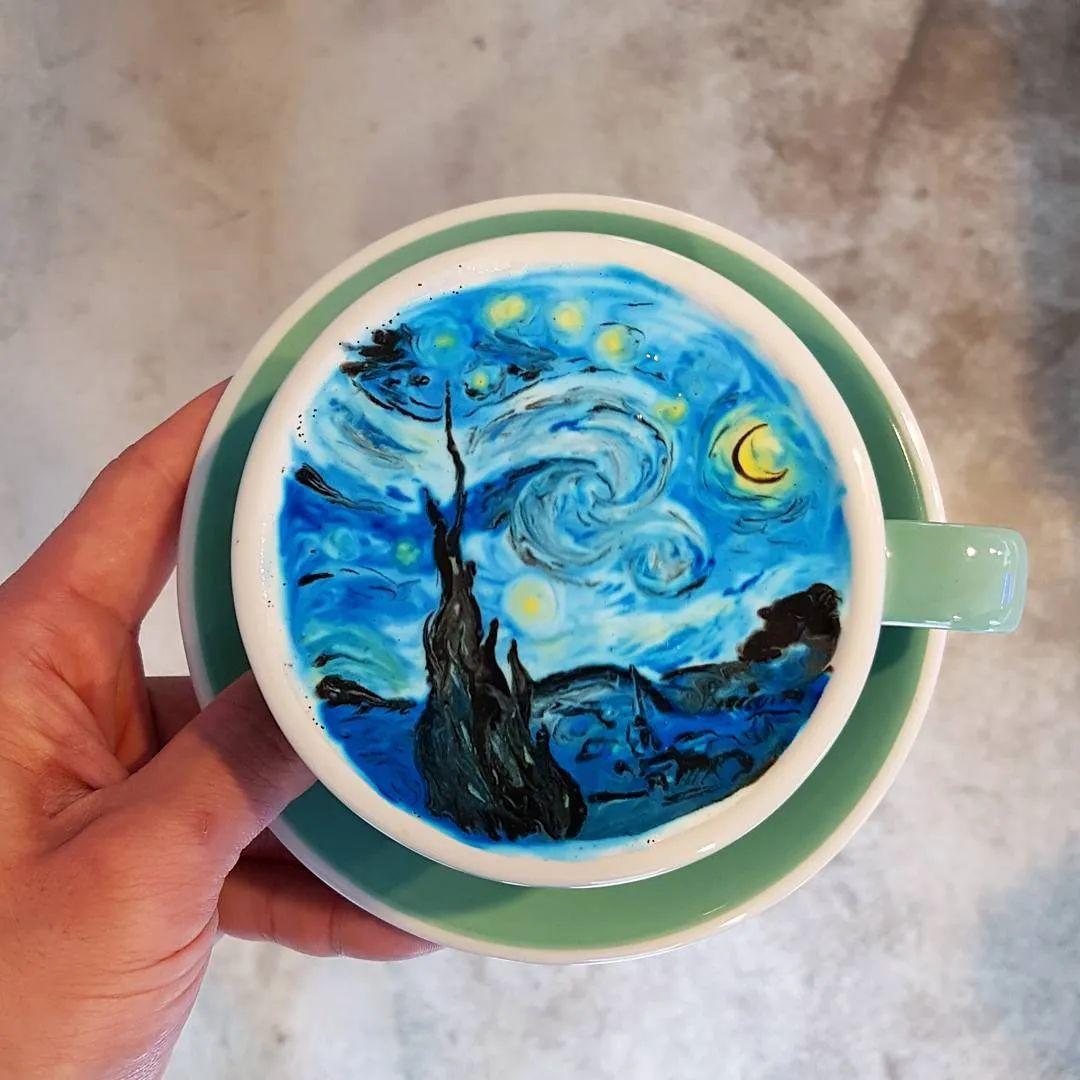 咖啡上的名画,你还舍得喝?插图3